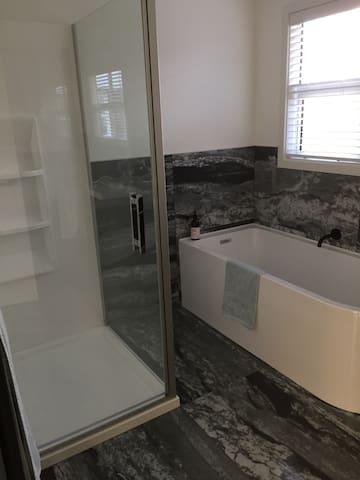 Bathroom opposite bedroom