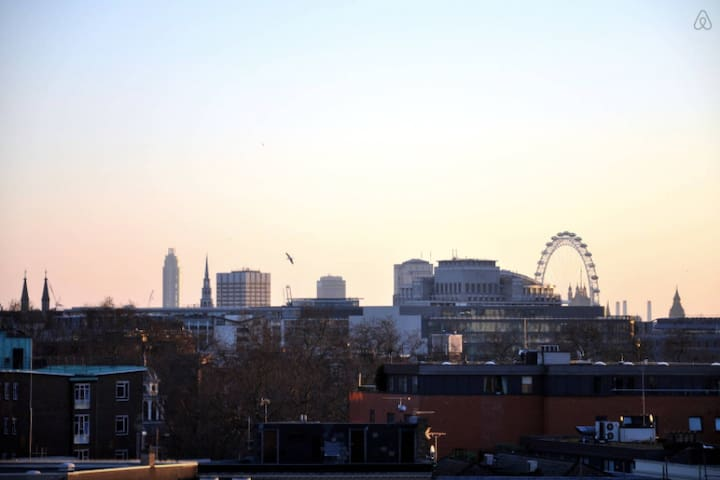 Central with views across London & late check out