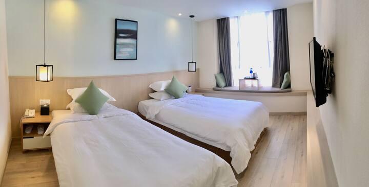 新房特惠~山姑度假区南次路口清新酒店 标间/大床房/套房