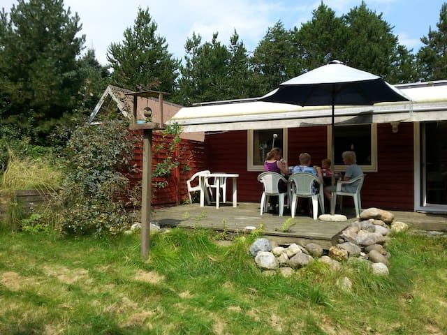 Helårsisol. sommerh. 400 m fra Limfjorden. 2 huse - Spøttrup - Houten huisje