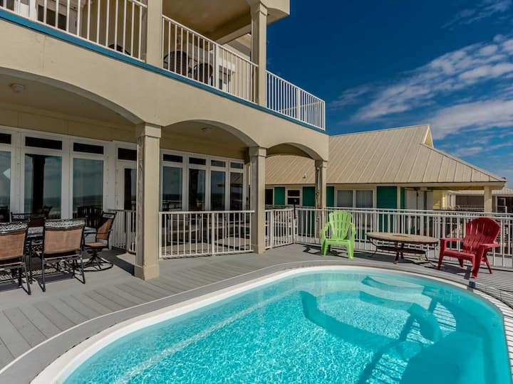 Beachfront Home in Gulf Shores with Private Pool