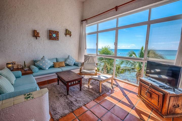 La Sirena #13, Akumal-Beachfront! Caribbean View!