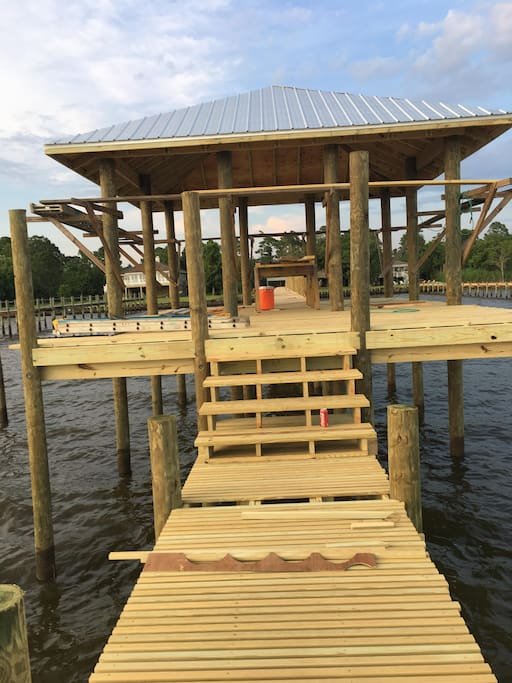Brand NEW pier and Boathouse completed July 2018