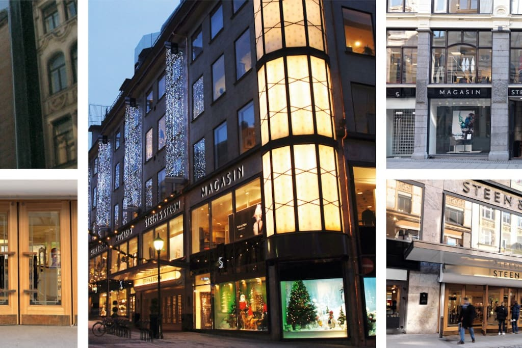 The exclusive shopping mall Steen & Strøm walking distance from the Studio Flat.