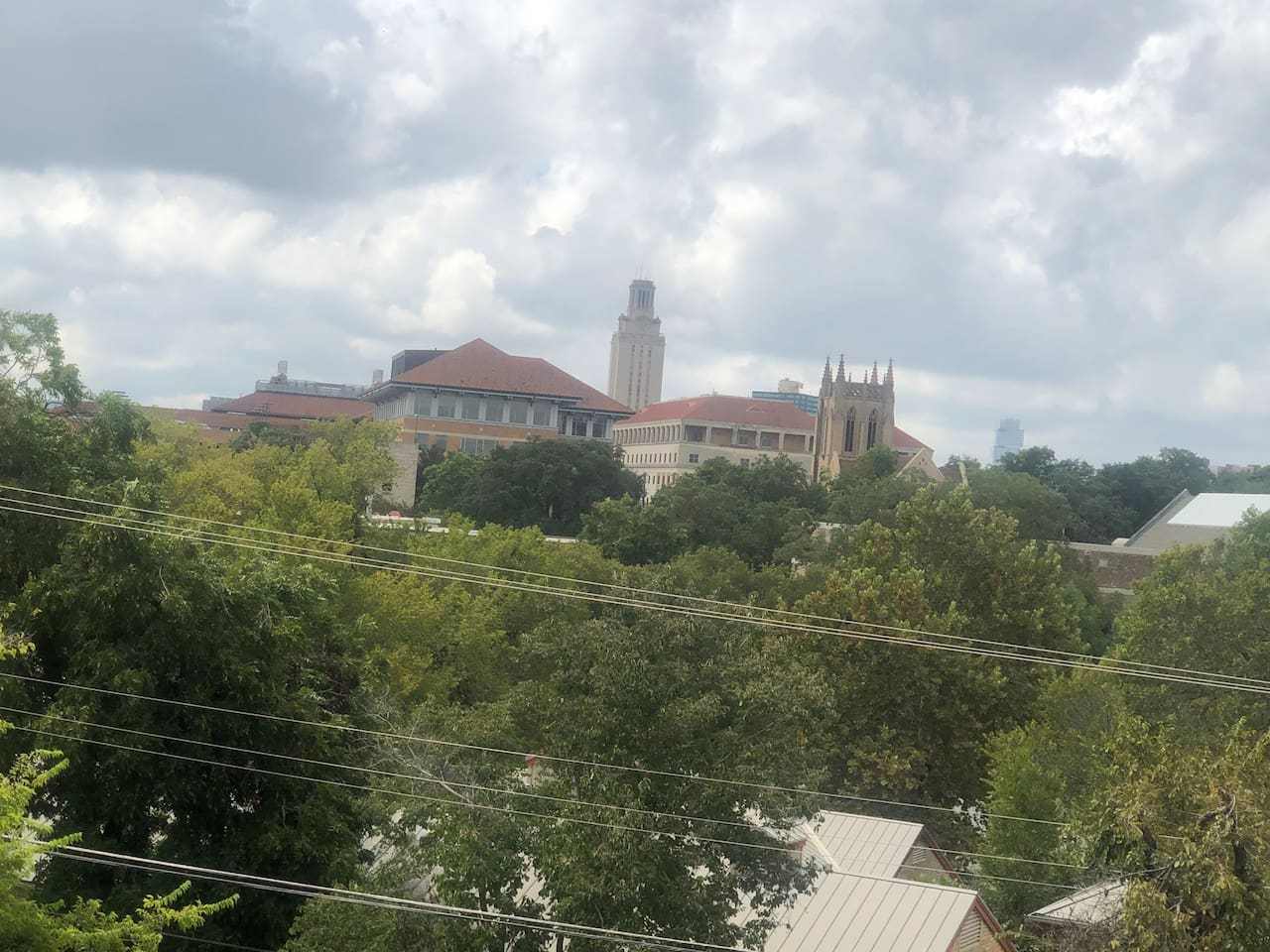 Great view of the UT clock tower.