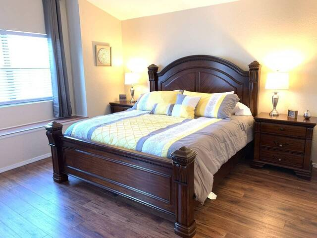 Roomy Master bedroom.