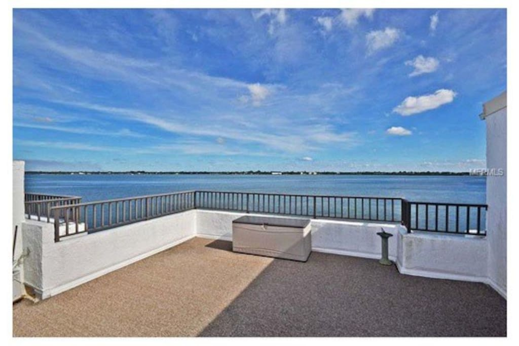 Beautiful Gulf Views Condo is located steps away from the beach.