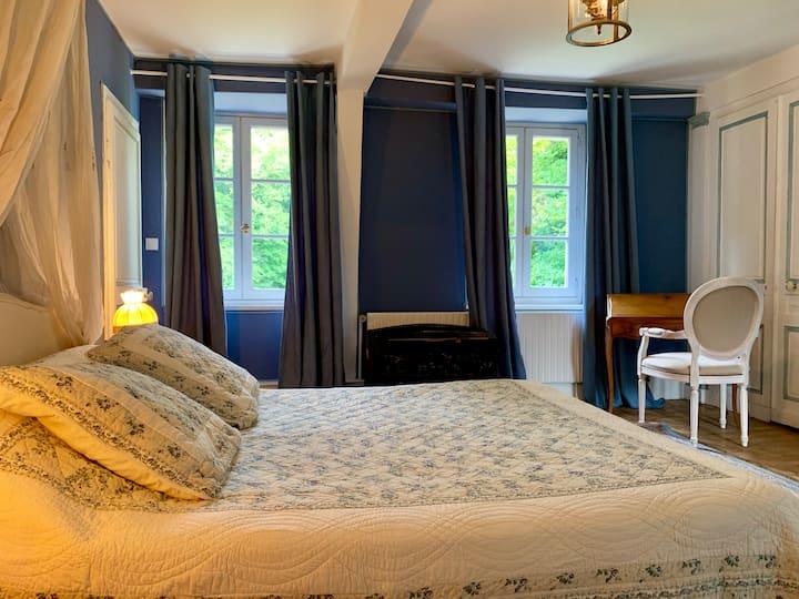 Chambre bleue Manoir du XVIIIe Baie de Somme
