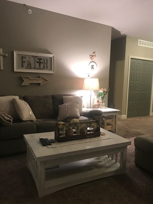 Couch in main living space