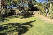 Large fenced backyard for your pet to roam.