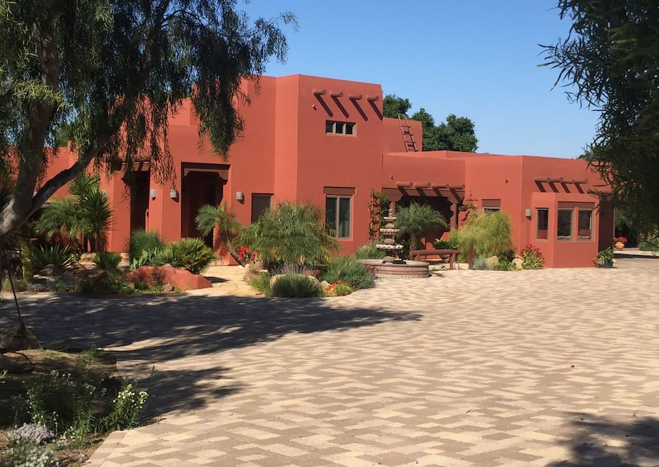 Main House as you come up the driveway; Courtyard suite is around back and Casita is next door