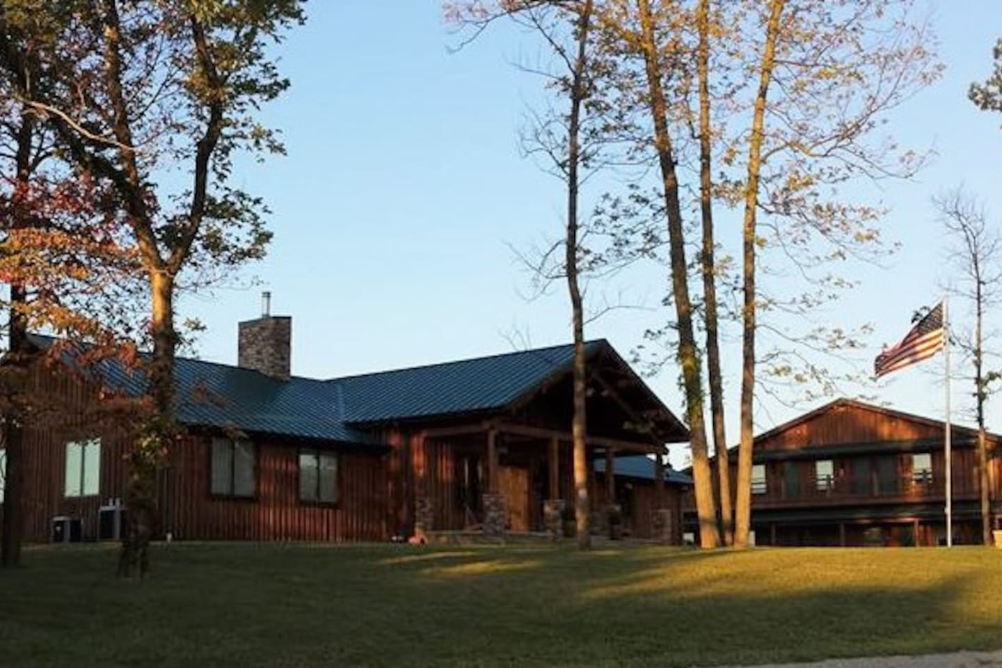 This is the front of our lodge with guest house beside it.