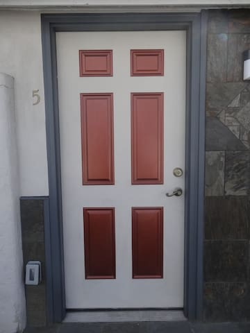 Here's the door to this listing's room.