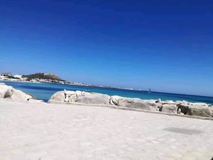 Maison vue sur mer à la Marssa plage kelibia