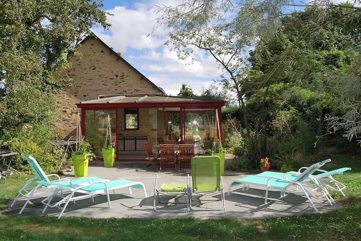 Location de vacances à Chemazé en Mayenne - Chemazé - Allotjament sostenible a la natura
