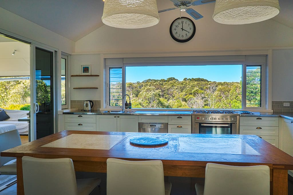 Amazing views from the kitchen over the Margaret River Valley