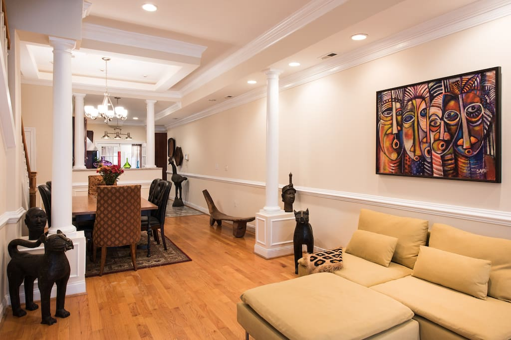 This is living room of home. Simply to receive you, this area of the house is off limits.