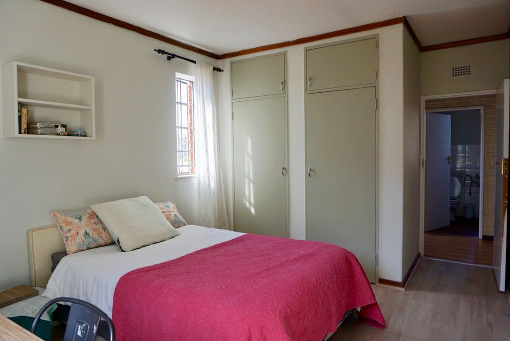 2nd view of private guest bedroom: plenty of cupboard space for those travellers who like to travel with everything!
