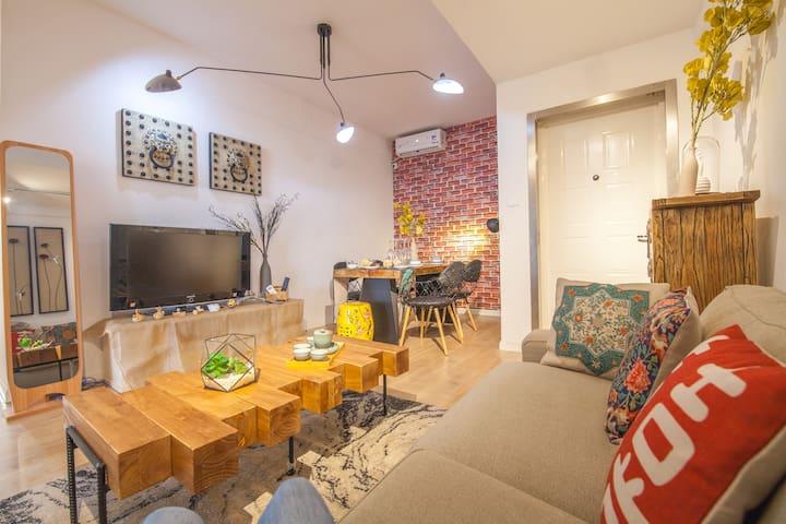 【Aster】5br,150sqm!   Wonderful Living room @FFC - Shanghai - Lejlighed