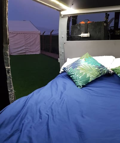 Helicopter glamping. Stay in an army Westland Lynx