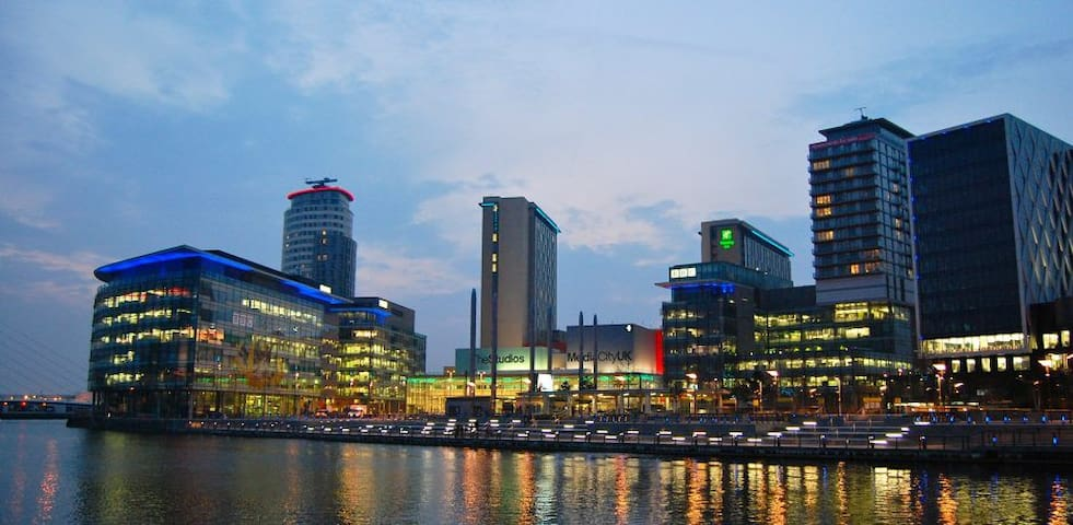 Stylish 2 Bedroom Apartment Media City Manchester - Salford - Apartamento