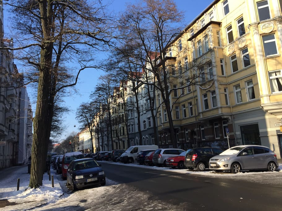 This is our neighbourhood, one of the nicest areas in all Hannover.