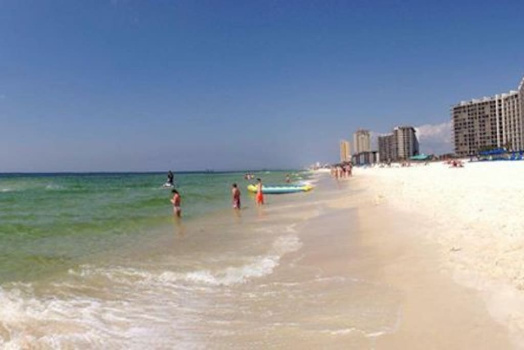 Panoramic view from the beach.