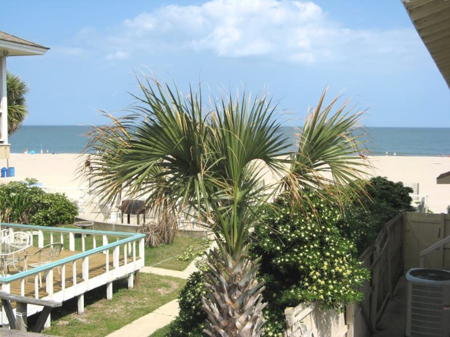 View of Tybee Beach and the Atlantic Ocean from the Upstairs Balcony