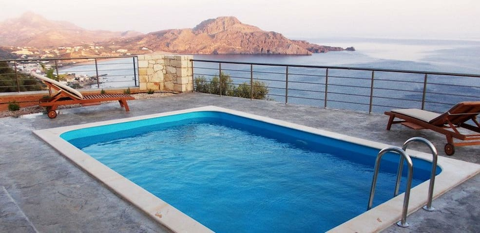 Incredible sea view,Private pool,Beach & Tavern 1 - Plakias - Casa