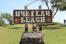Hukilau Beach main entrance an easy 3 minute walk
