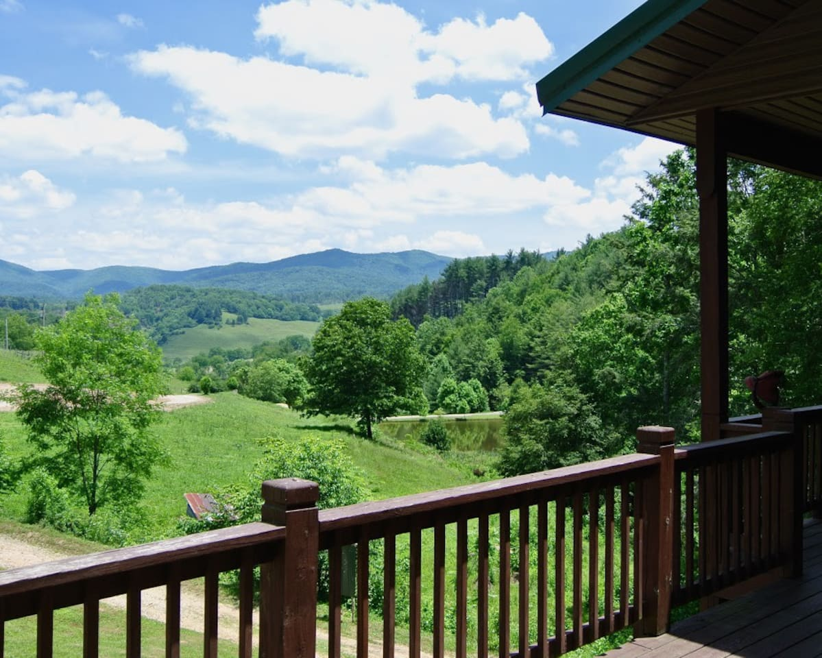 The view from the deck of The Lodge.