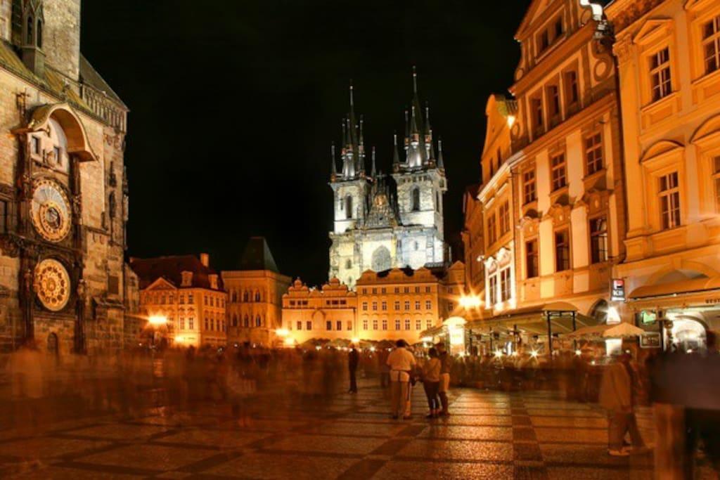 Prague town centre