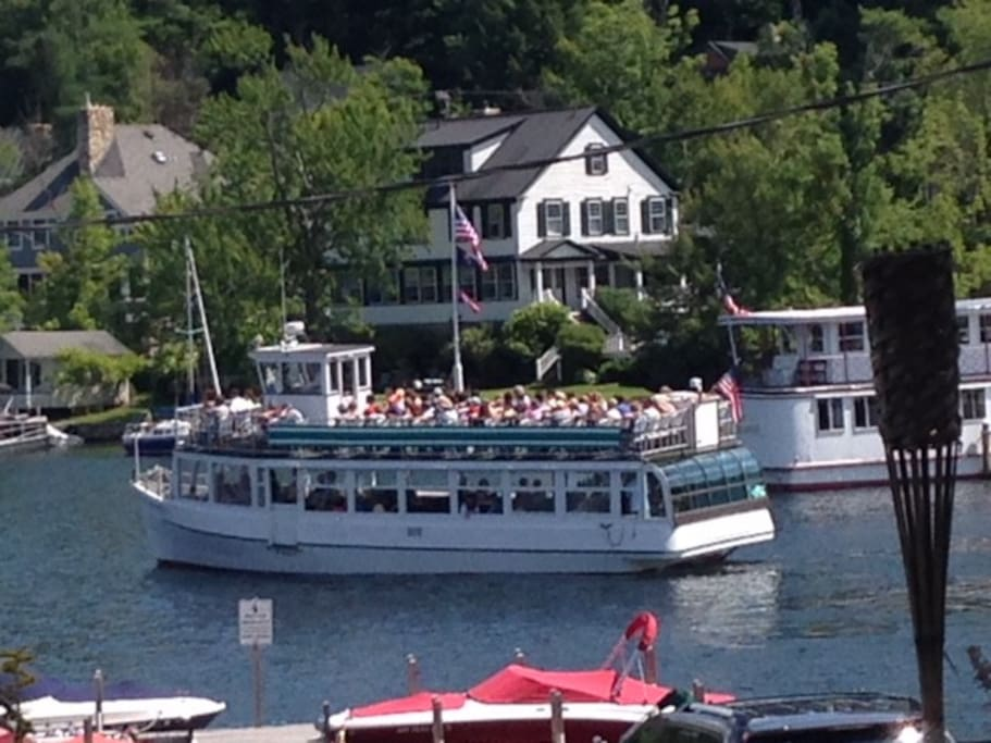 Take a ride on the MT Sunapee II Tour boat or the Kearsarge Restaurant Ship right outside your door