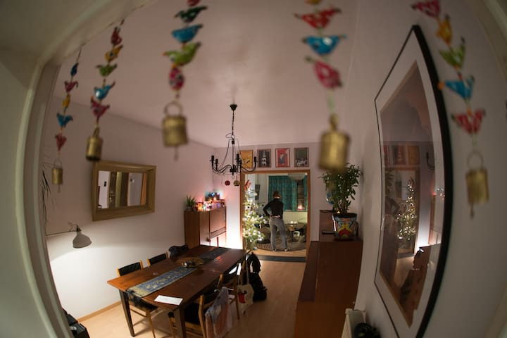 Cosy quiet private bedroom & living room in Gent! - Gent - House