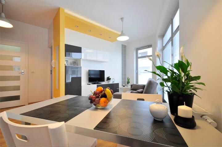 Apartament przy Molo, Rezydencja Marina, parking