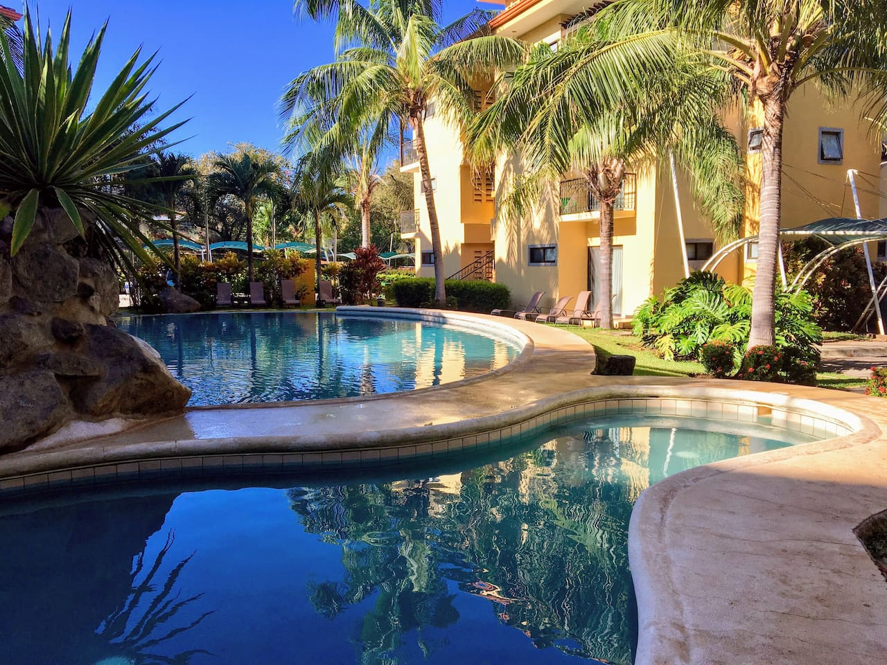 Enjoy this beautiful pool, just  steps from the condo.
