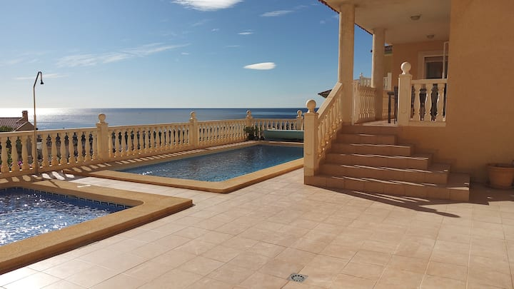Stunning seaview villa Bolnuevo with private pools