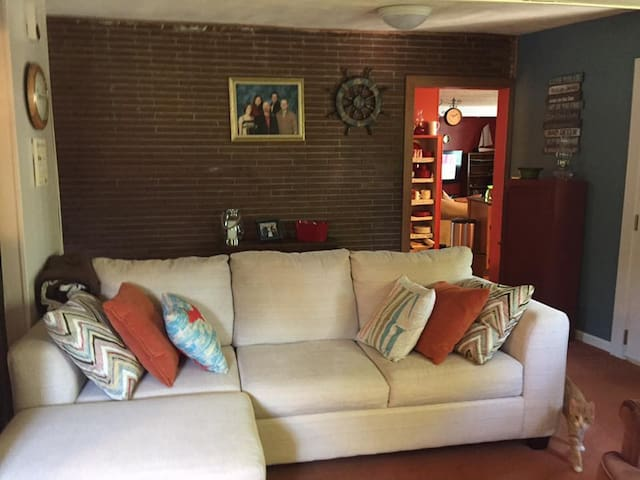 Family room with queen sofa bed