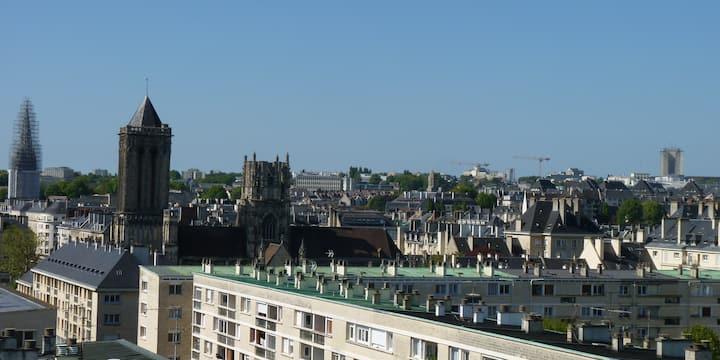 Vue exceptionnelle sur Caen