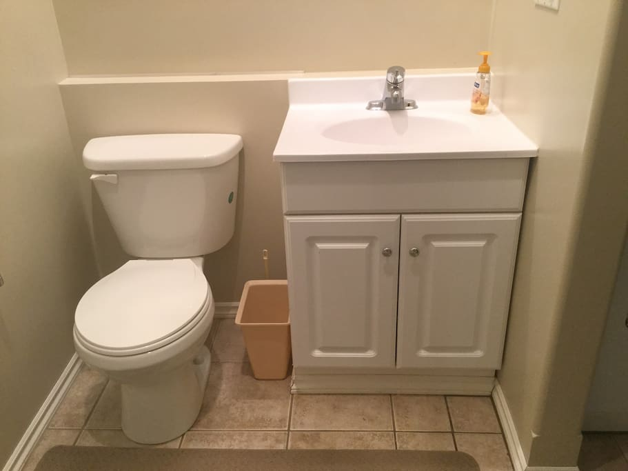 Three piece bathroom just off the bedroom
