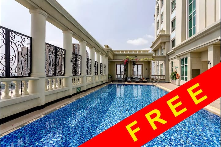 Studio near center + Free ROOFTOP pool + washer - Ho Chi Minh City - Daire