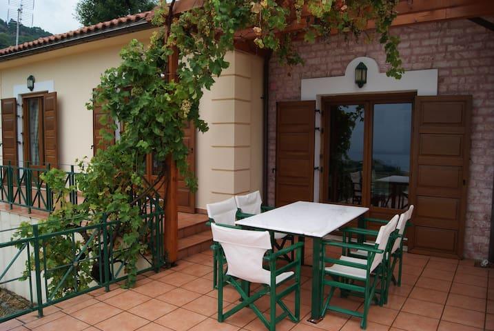 Spacious paradise with stone-build patio