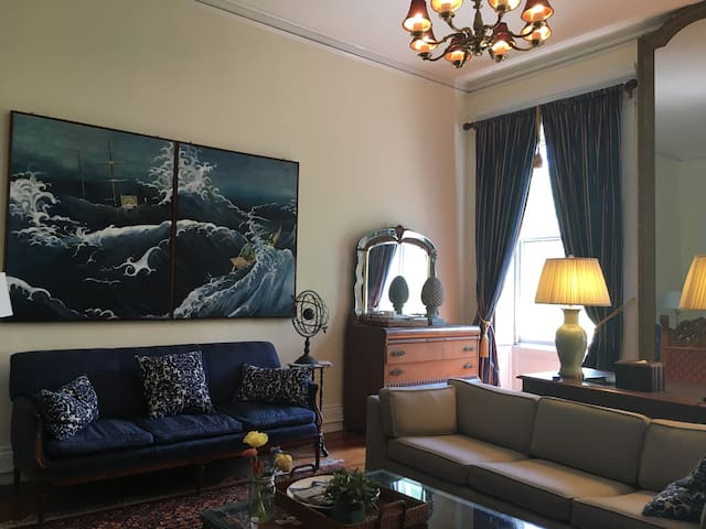 Decor evoking Perry's travels to the Far East