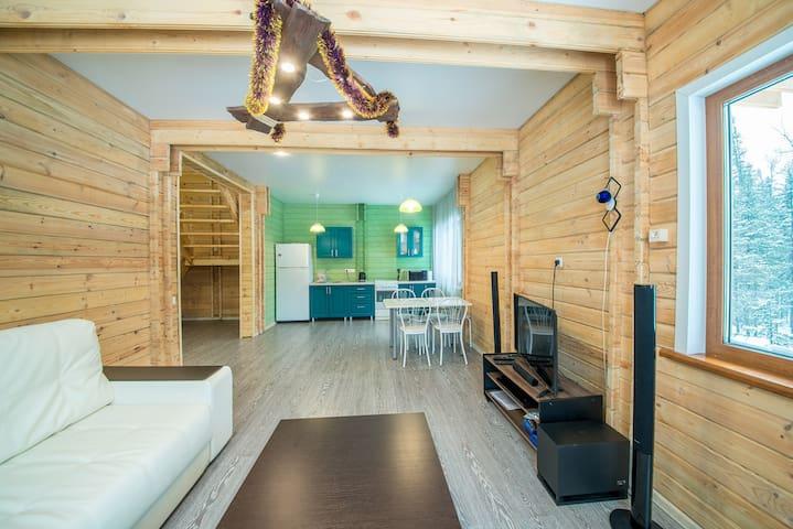 Аренда гостевого дома в Шерегеше #woodhousegesh