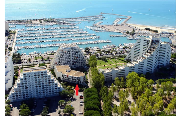 Studio jardin au calme parking port plage casino