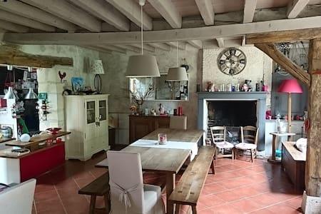 Belle maison de campagne, spatieuse et au calme - Contres - Huis