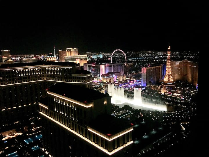 Vdara 50th Flr♦Fountain Strip View♦Free Parking