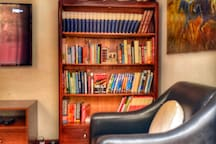 Our guests really LOVE this quiet reading corner. We have plenty for you to choose from if you left your book!