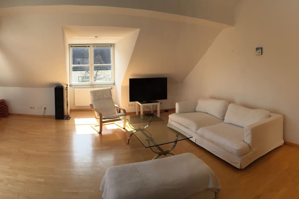 Wohnzimmer Deckenhöhe 4,75m