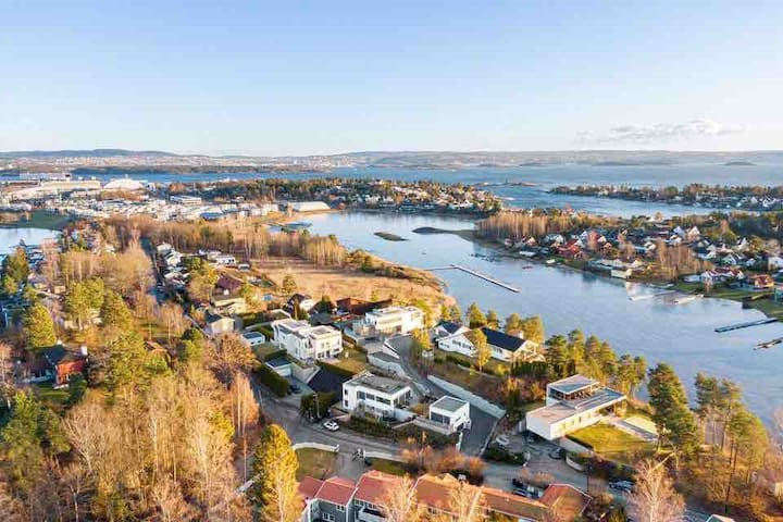 Luxurious 200 sqm house- 10 min to Oslo-near beach